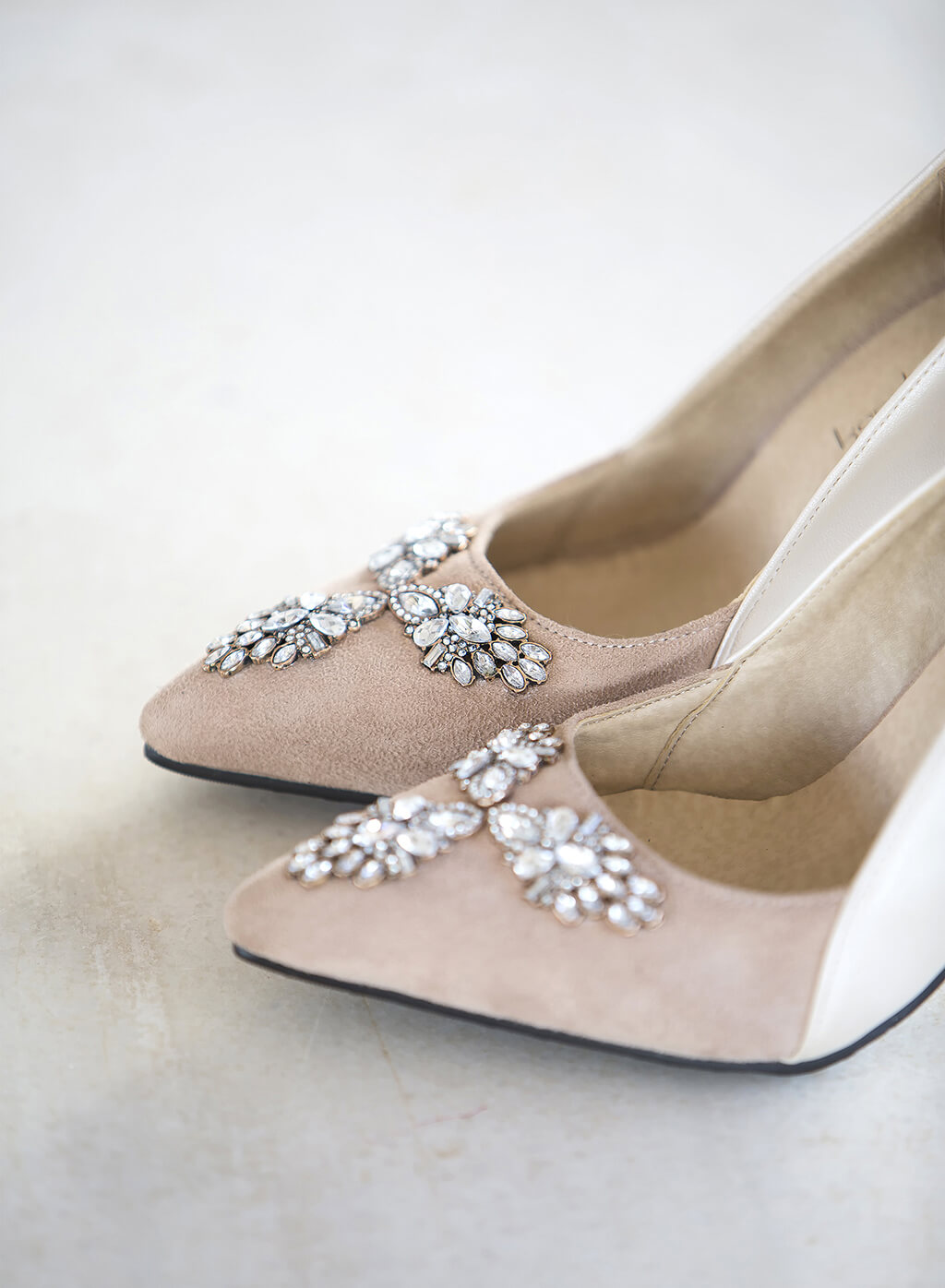 bridal freya 2017 zapato color nude con pedreria karolina fresneda